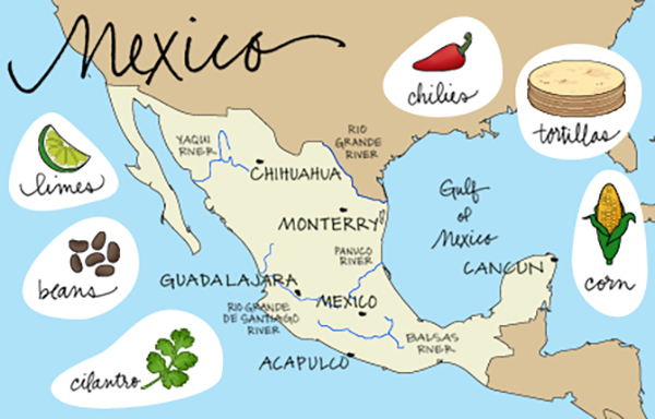 Mexican food history mexipes for Ancient mayan cuisine
