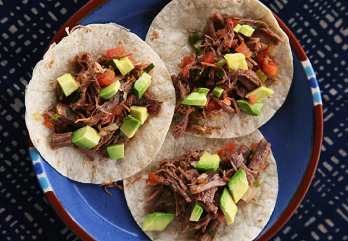 Shredded Beef Tacos with Lime and Avocado - Mexipes
