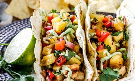 Chili Lime Chicken Tacos with Grilled Pineapple Salsa