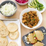 Gorditas Filled with Chicken, Pickled Onion, and Cabbage