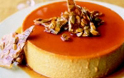 Pumpkin Flan with Pepita Praline