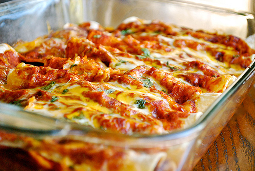 SHREDDED CHICKEN ENCHILADAS-recipe
