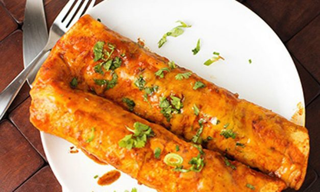 Spicy Cheese and Beef Enchiladas