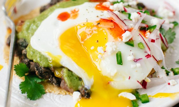 Huevos Rancheros with Avocado Salsa Verde