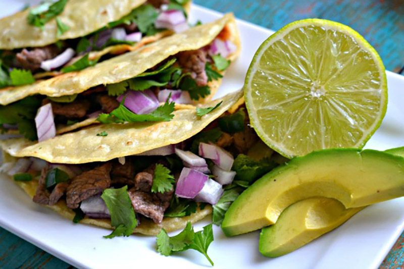 Authentic Mexican Steak Tacos