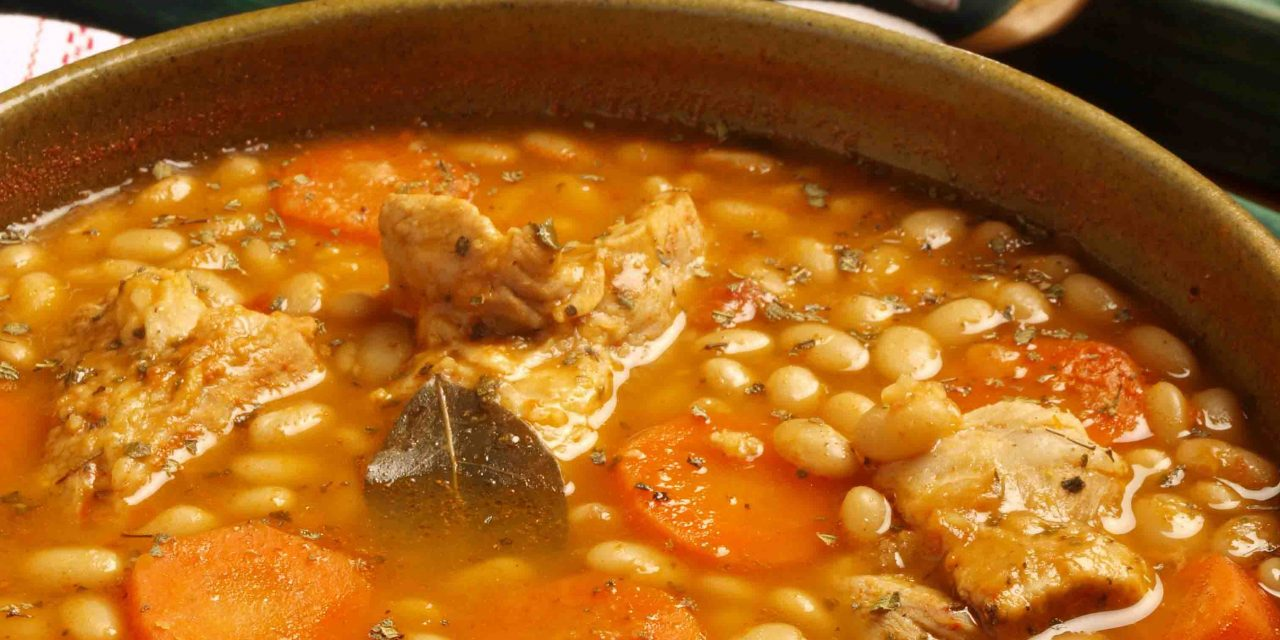 White Frijoles and Pork Rib Soup