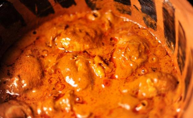 Chicken in Red Pipian Sauce