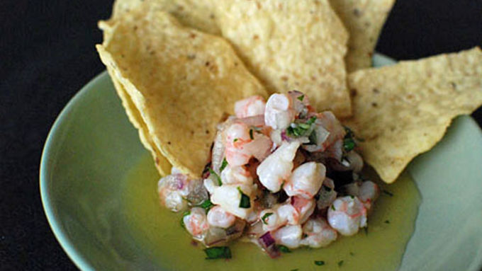 Orange Basil Shrimp Ceviche