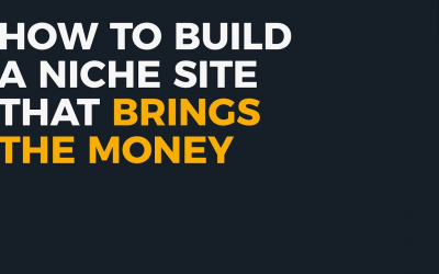 Step-By-Step Guide To Building Your Very First Niche Site.