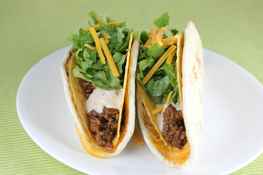 Cheesy Gordita Crunch Recipe