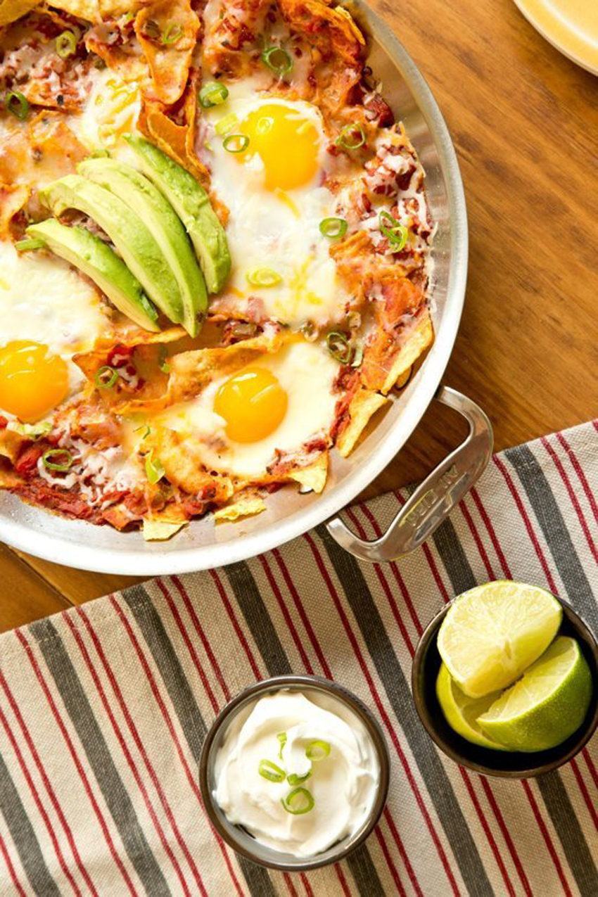 Skillet Chipotle Chilaquiles with Eggs
