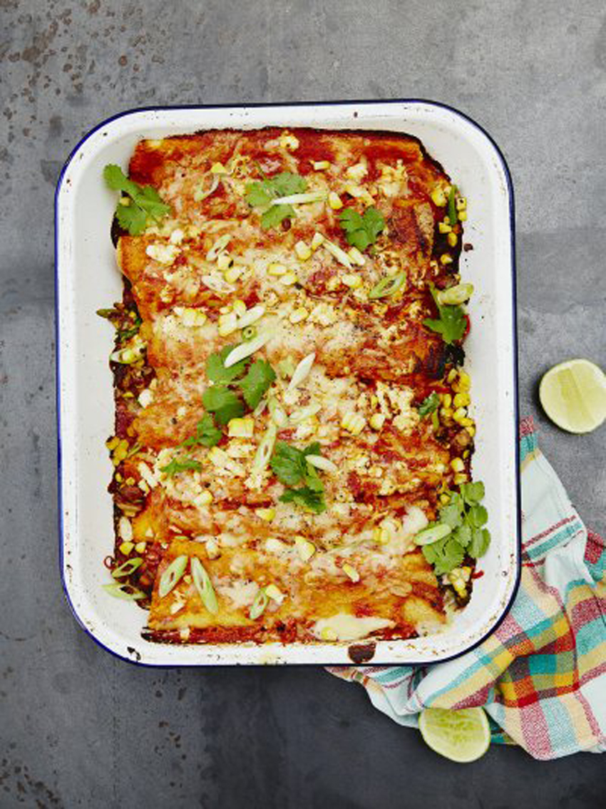 Veggie enchiladas
